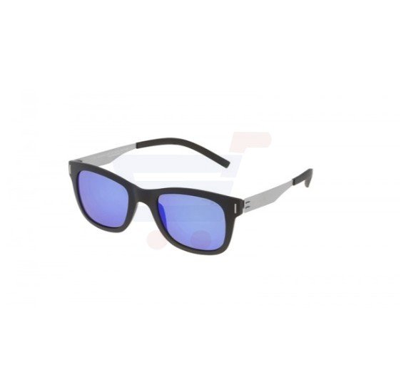 Police Oval Black Frame & Blue Mirrored Sunglasses For Men - SPL170-U28B