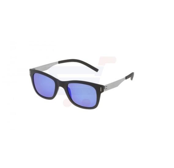 Police Oval Black Frame & Blue Mirrored Sunglasses For Men - SPL170-U28B