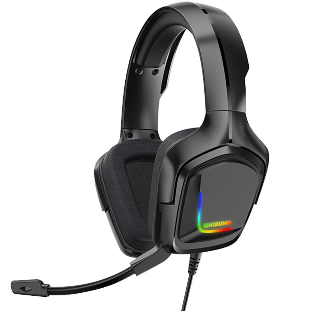 Onikuma K20 Professional Gaming Head Set With Microphone 22x10x20cm Black