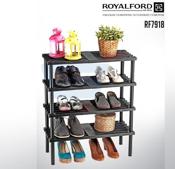 Royalford 4 Layer Plastic Shoe Rack - RF7918