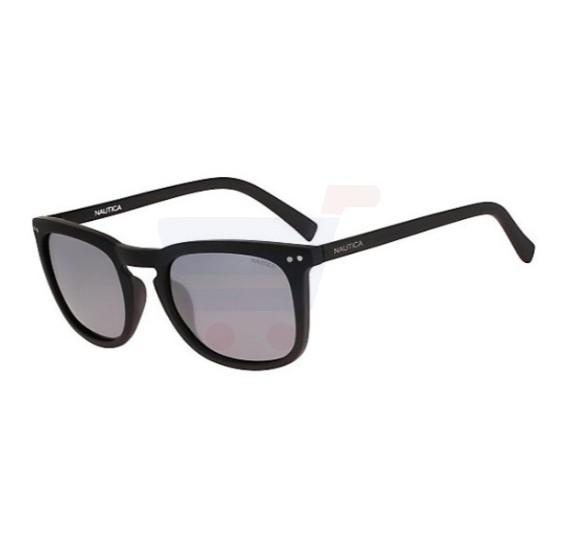 Nautica Rectangular Matte Black Frame & Grey Mirrored Sunglasses For Unisex - N3613SP-005