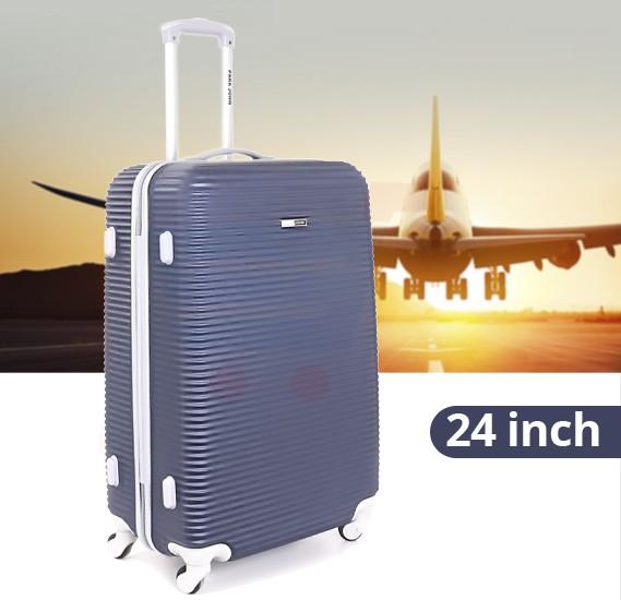 Para John 24 Inch Trolley Luggage, Blue- PJTR3045
