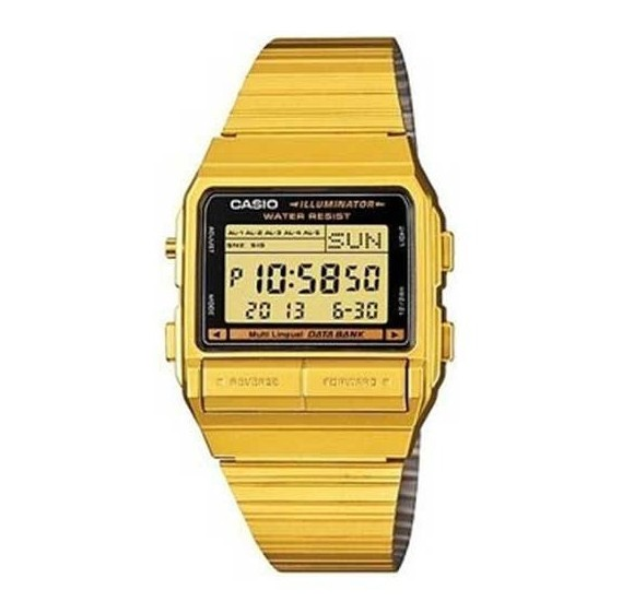 Casio Mens Stainless Steel Digital Quartz Watch DB-380G-1DF(CN)