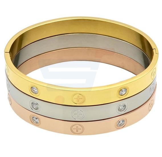 Set of 3 Cross Screw Design Bracelets