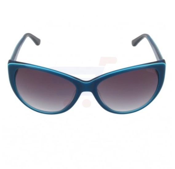 Guess Cateye Blue Frame & Violet Gradient Mirrored Sunglasses For Woman - GU7427-90B