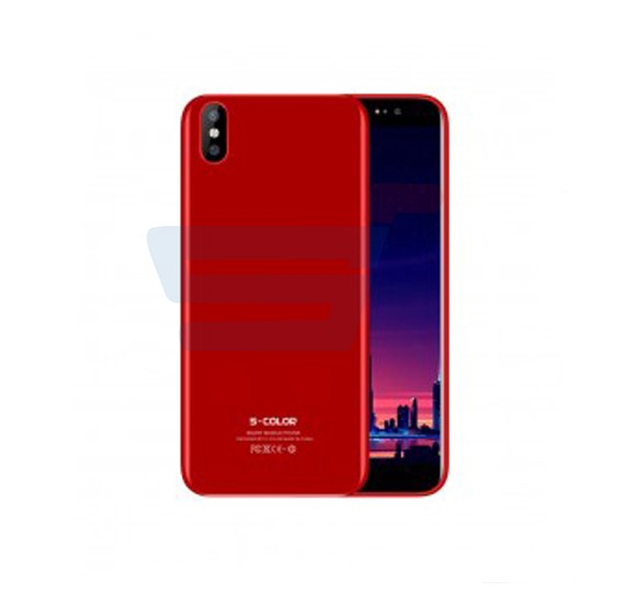 S-Color iPh8 Plus Smartphone, Android 7, 5.7 Inch Display, 3GB RAM, 32GB Storage, Dual Camera, Dual Sim, Red