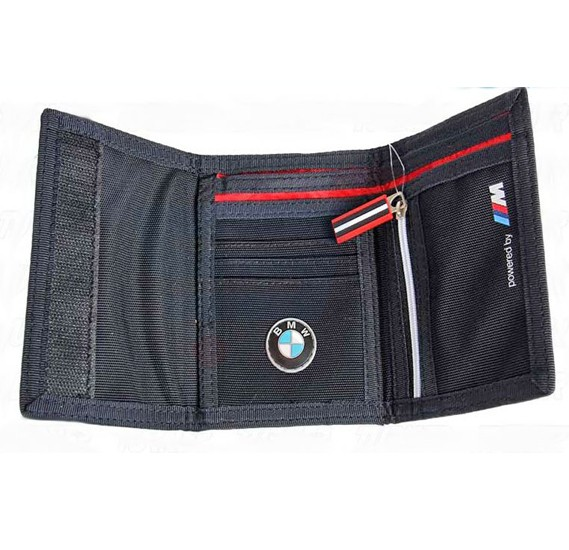 BMW Trifold Velcro Wallet Black For Unisex