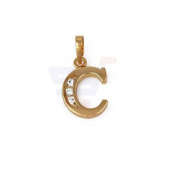 Xuping Necklace Pendant Gold Plated Letter  C