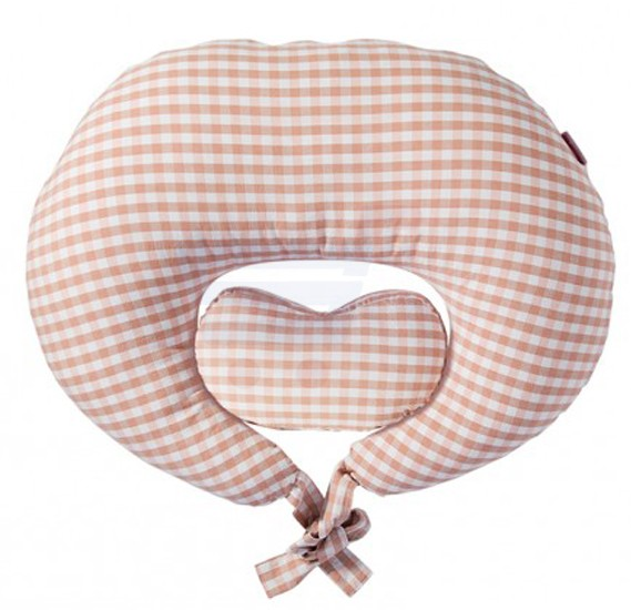 Sunveno Pregnancy and Feeding Heart Pillow Organic Cotton Pink