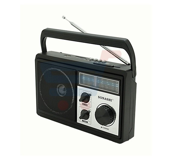 Sonashi Portable Radio/USB/SD/MP3/WMA/MAV & Recording SRR-86-USR