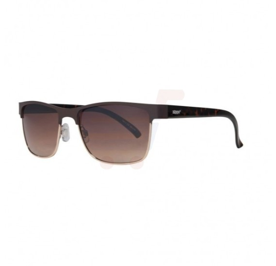 Zippo Semi-Rimless Sunglasses Gradient Brown - OB12-03