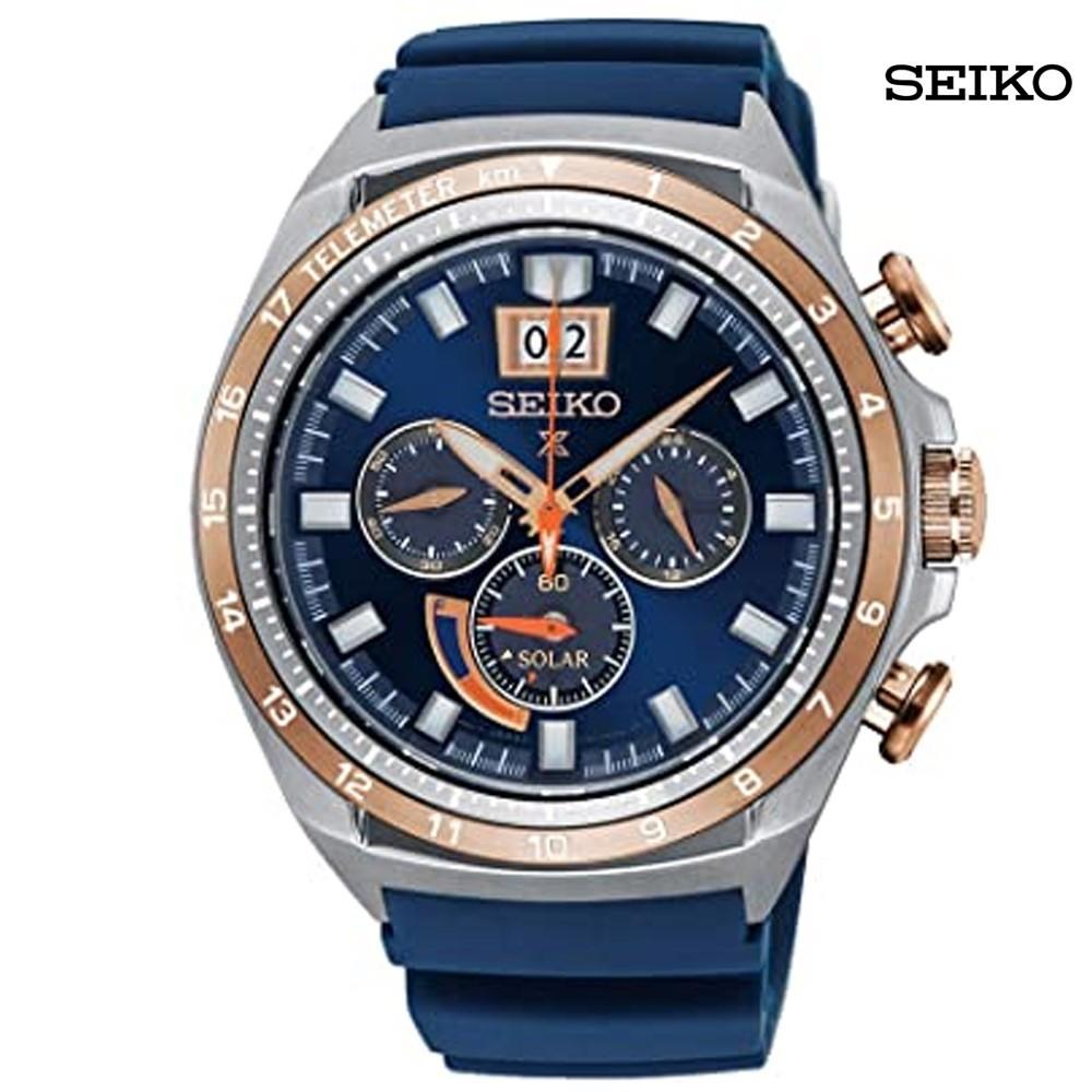 Seiko Men Chronograph Blue Dial Watch, SSC666P1