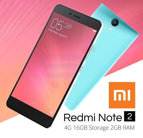 Xiaomi Redmi Note 2 Smartphone, Android 5.0, 5.5 Inch Display, 2GB RAM, 16GB Storage, Dual Camera, Dual Sim- Grey