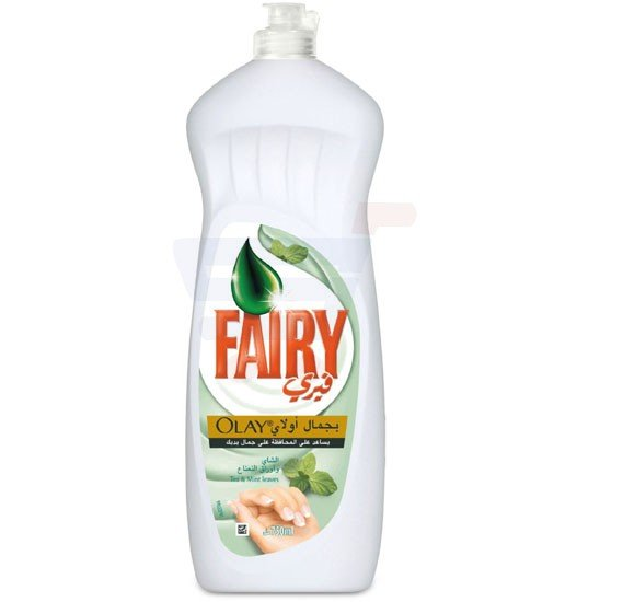 Fairy Olay Tea & Mint Dish Washing Liquid Soap 750 ml