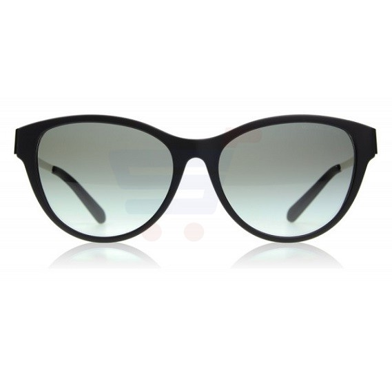 Michael Kors Cat Eye Black Soft Touch Frame & Grey Gradient Mirrored Sunglasses For Woman - 0MK6014-302211