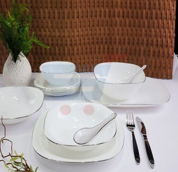 RoyalFord 36 Pieces Soft Square Dinner Set - RF7053