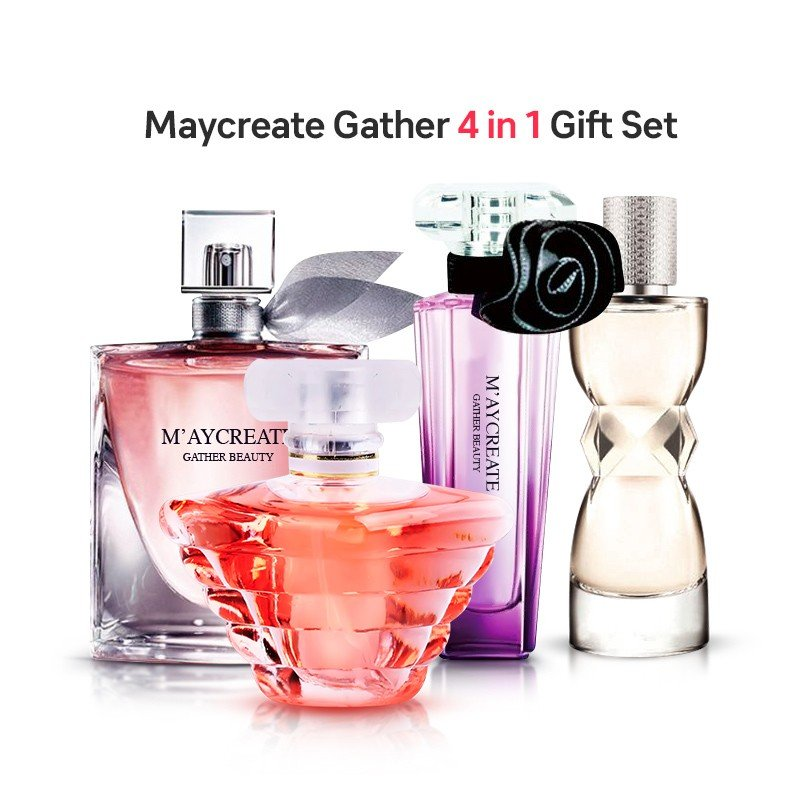 Maycreate Gather Beauty 4 piece EDP Perfume Gift Set for Ladies, 25ml, JM40