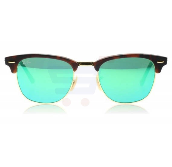 Ray-Ban Wayfarer Havana Frame & Flash Green Mirrored Sunglasses For Unisex - RB3016-1145-19-51