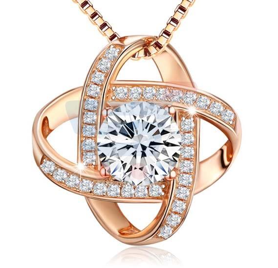 ccb506c51af0 Buy J.Rosee Rose Gold Plated 925 Sterling Silver Necklace JR-618 ...