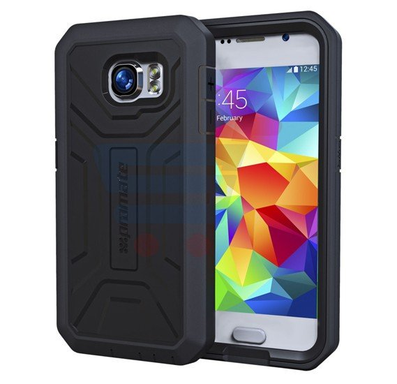 Promate Armor S6 for Samsung Galaxy S6, Rugged and Impact Resistant Protective Case, Black