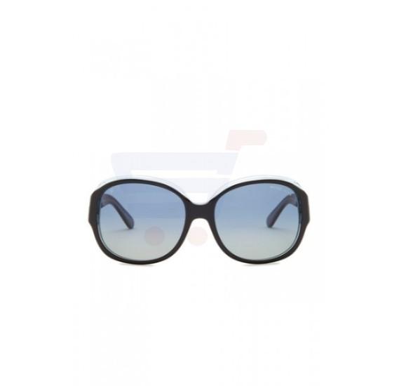 Michael Kors Oversized Black/Blue Frame & Blue Green Polarized Mirrored Sunglasses For Woman - MK6004-30011H