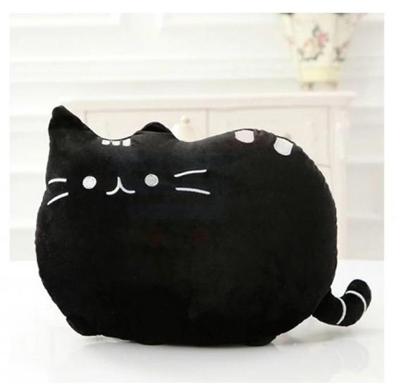 Eazy Kids Plushy Cat Pillow Black