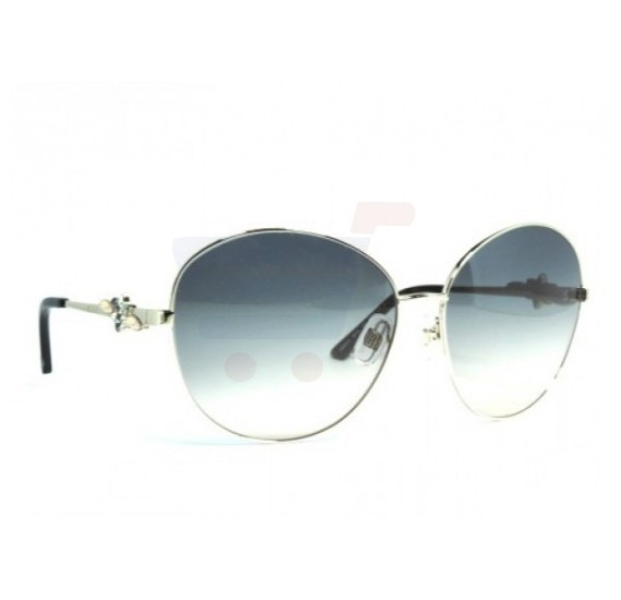 Swarovski Round Silver Frame & Gradient Blue Mirrored Sunglasses For Woman - SW9232P