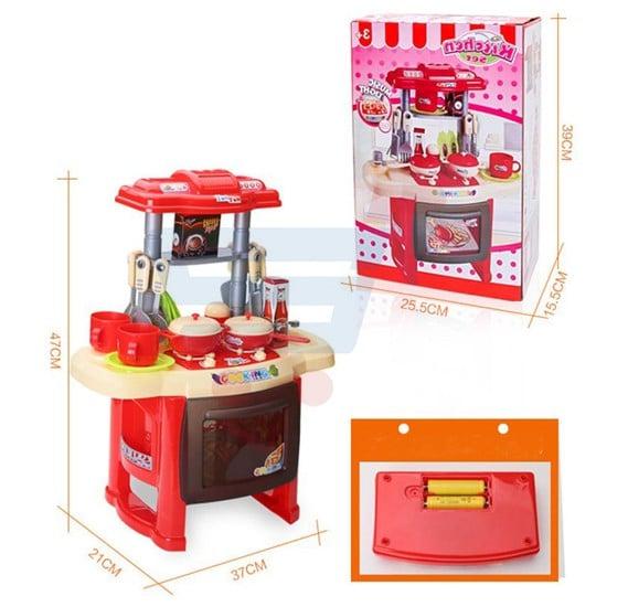 Kitchen Set With Light And Sound: Buy Big Kitchen Set Kids Toy Online Dubai, UAE