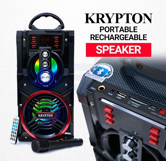 Krypton Rechargeable & Portable Speaker KNMS5037 With Microphone