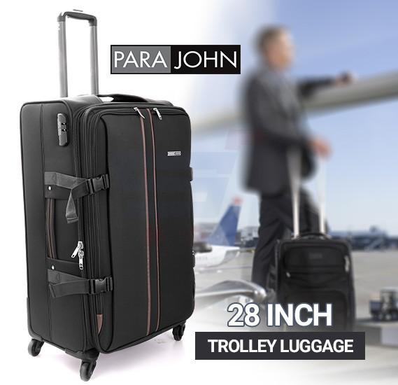 Para John 28 Inch Trolley Luggage, Grey- PJTR2023