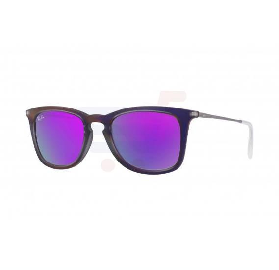 Ray-Ban Wayfarer Shot Violet Frame & Violet Mirrored Sunglasses For Unisex - RB4221-616-84V