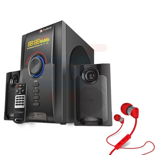 Bundle Offer Audionic Max-550 Plus, Bluetooth Speaker and Get Audionic Thunder T-40 Headphone Free
