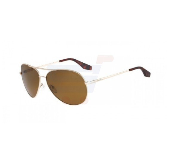 Nautica Aviator Gold Frame & Gradient Mirrored Sunglasses For Unisex - N4605SP-717