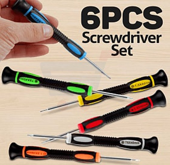6 Pcs Set Power Precision Screwdriver, PR-660