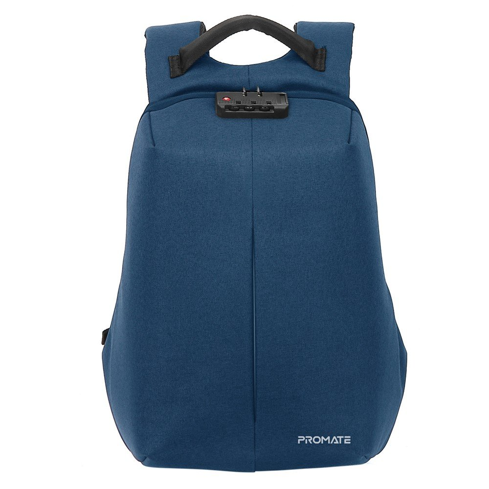 Promate Laptop Backpack with Lock, DEFENDER-13.BLUE