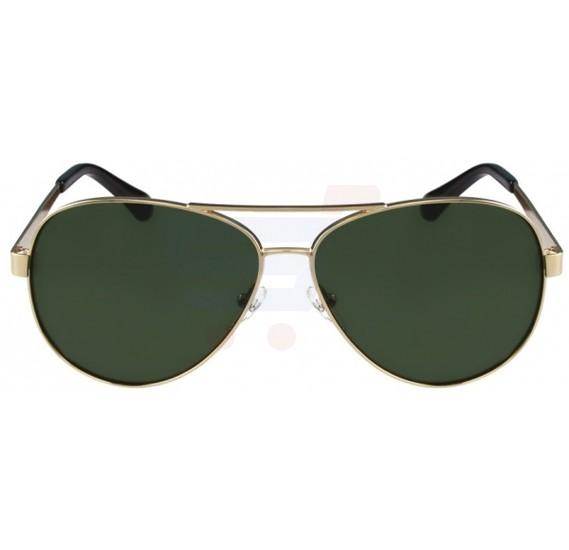 Calvin Klein Aviator Gold Frame & Green Gradient Mirrored Sunglasses For Unisex - CK2145S-714