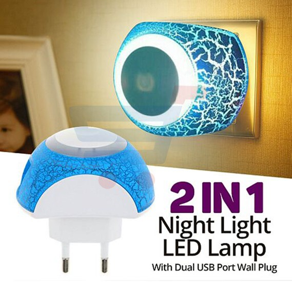 Buy Zooni Universal 2 In 1 Multi Color 2.1A Touch Sensor Night Light LED Lamp  Online Dubai, UAE | OurShopee.com 10750