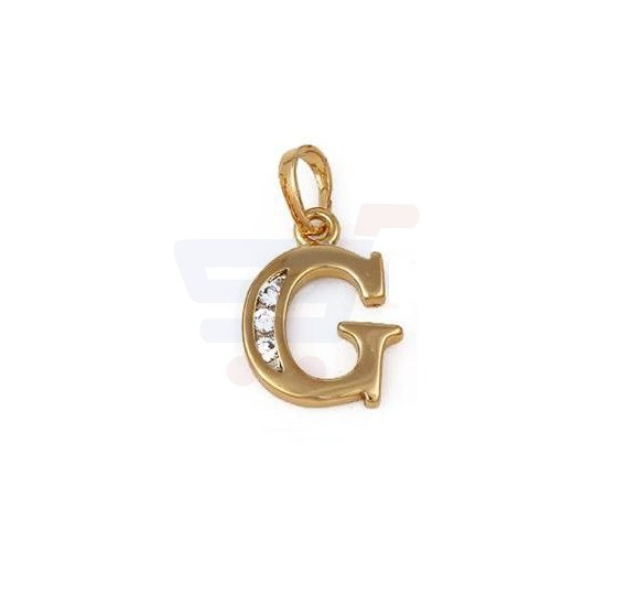 Xuping Necklace Pendant Gold Plated Letter  G