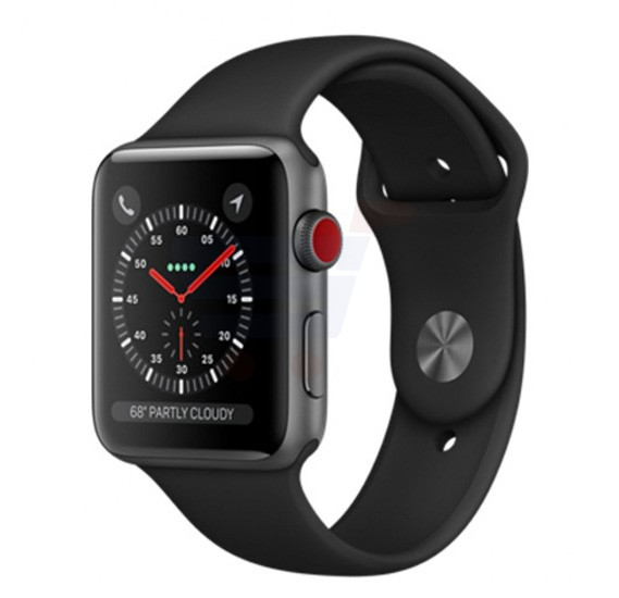 Apple Series 3 42MM Gps And Cellular MQK22 Sport Band Grey Black