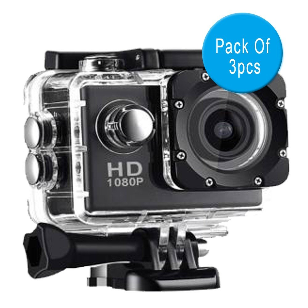 3 in 1 Bundle offer Elony Full HD Action Camera