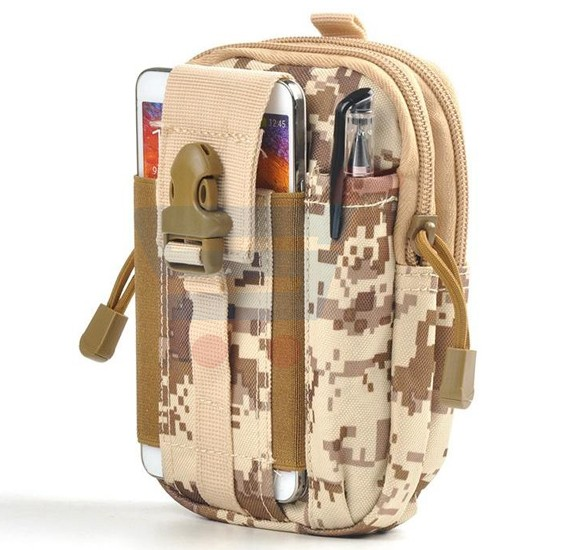 Water Resistant Outdoor Hiking Traveling Waist Pack Bag - Light Sand