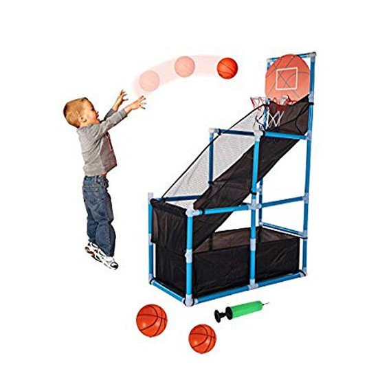 Indoor and Outdoor Basketball playing Set for Kids, 4.5 Feet With 3 Balls , 5024A