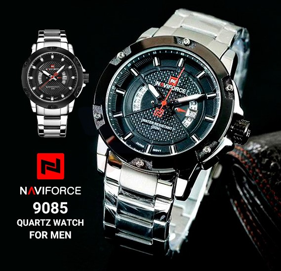 Naviforce Quartz Watch For Men, NF9085