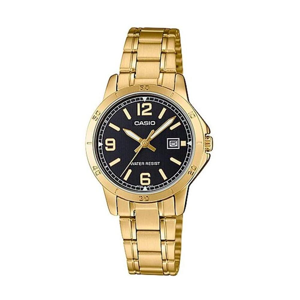 Casio Analog Black Dial Dress Watch For Women, LTP-V004G-1BUDF
