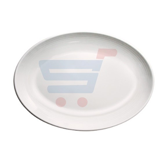 RoyalFord Melamine Ware 13 Oval Plate White - RF5851