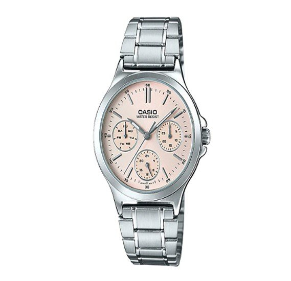 Casio Stainless Steel Strap Watch For Women, LTP-V300D-4AUDF