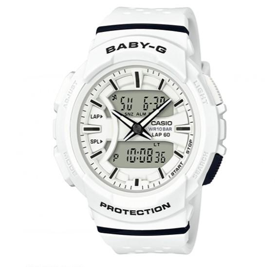 Casio Baby-G Analog Digital Two-Tone Series Black White Watch, BGA-240-7ADR
