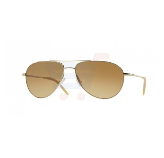 Oliver Peoples Aviator Gold Frame & Chrome Amber Photo Vfx Mirrored Sunglasses For Unisex - 1002S-524251