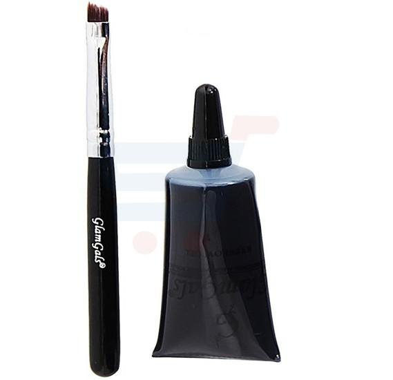 GlamGals Eyebrow Gel and Brush Black - EK02