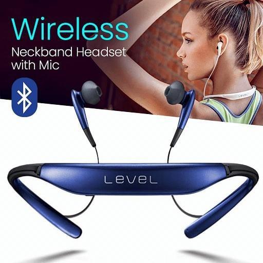 Level Wireless Bluetooth Neckband Headset with Mic